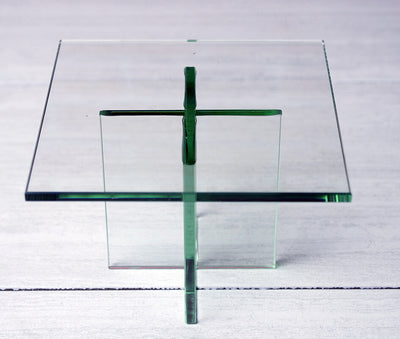 "Clear Glass Plate Display Stand 8""x5.5"""