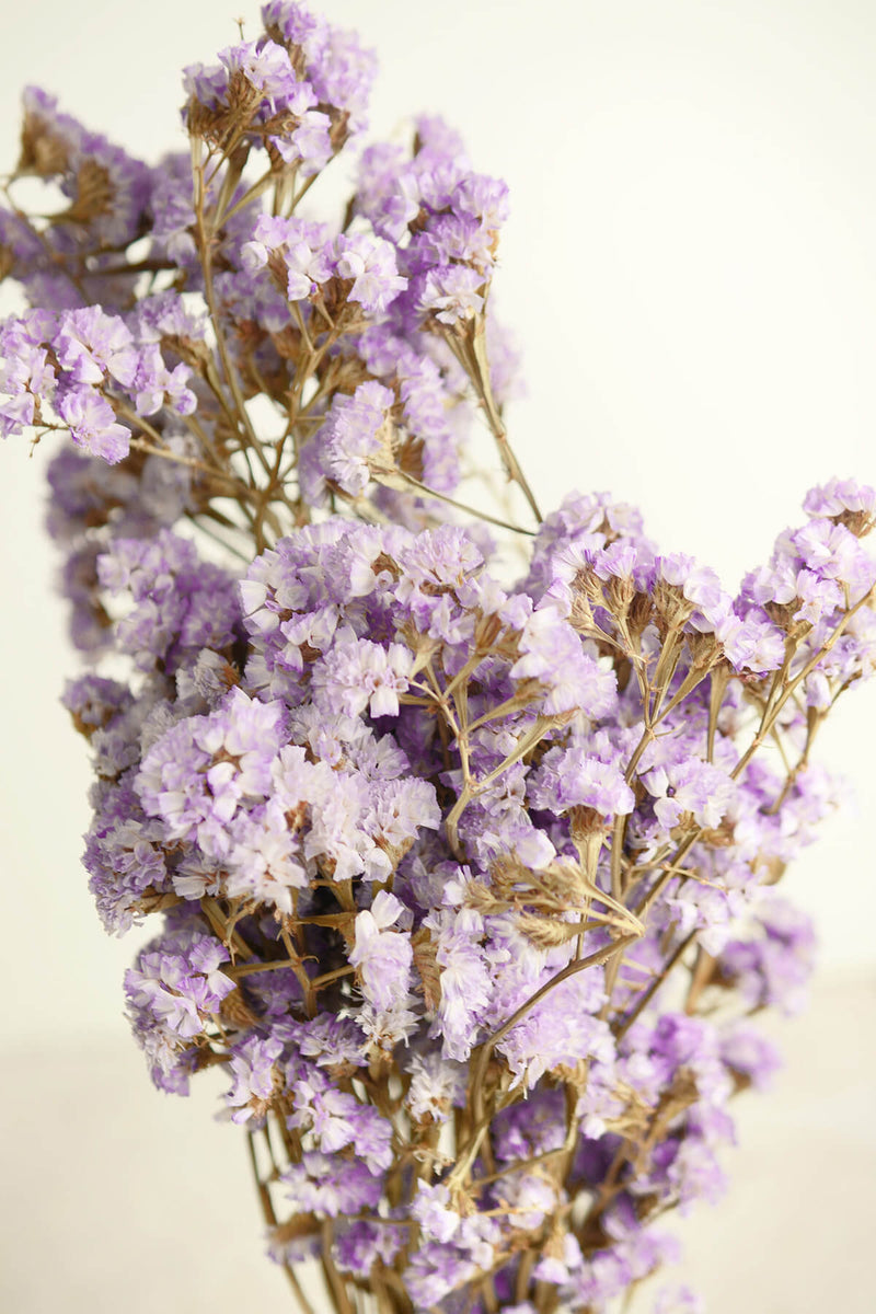 Dried Lavender Statice Flowers 17in