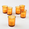eastland votive holder amber set of 12