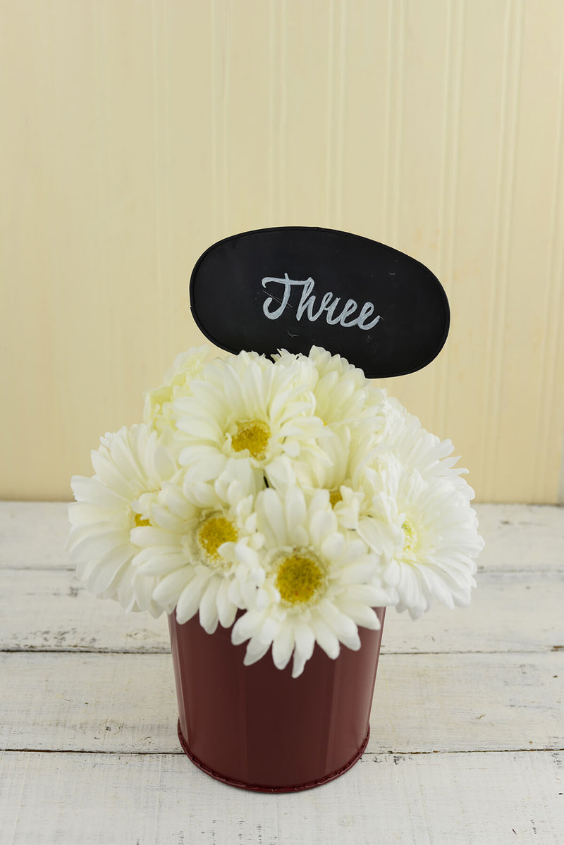 table number buckets set of 3
