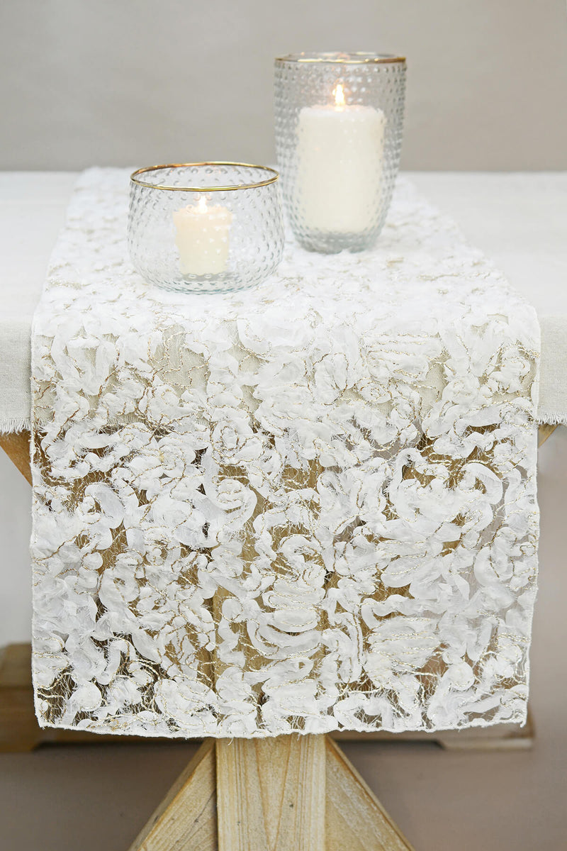 Shabby Chic Cotton Table Runner