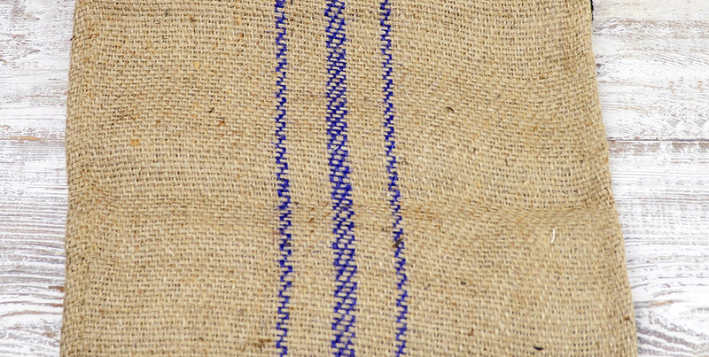 Jute Table Runner with Purple Stripes 14 x 72-in