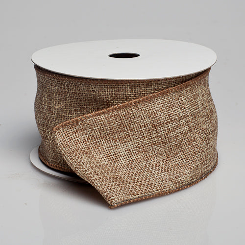 "Richland Burlap Ribbon with Wire Taupe 2.5"" x 10 Yards"