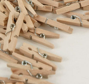 50 Tiny 1in Clothespins