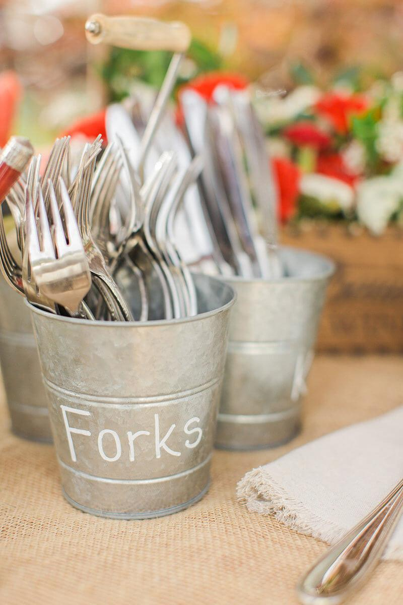 Triple Buckets  Utensil Holders