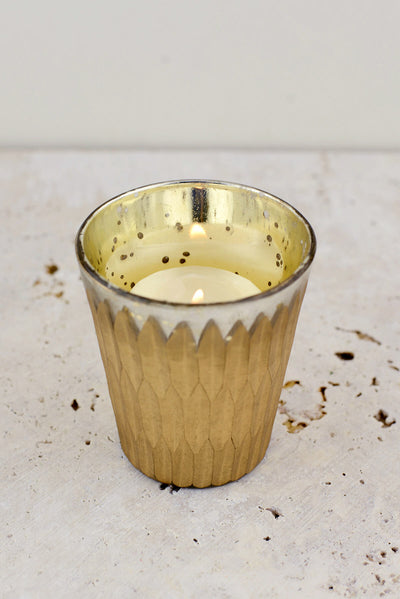 Gold Mercury Glass Glam Votive Holders