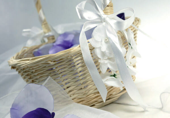 wicker flower girl basket