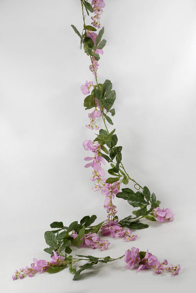 Wisteria Garland Pink 6ft