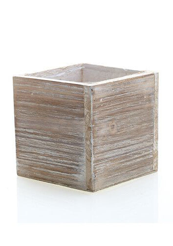 "Woodland Planter 6""x6""x6"" Whitewash"