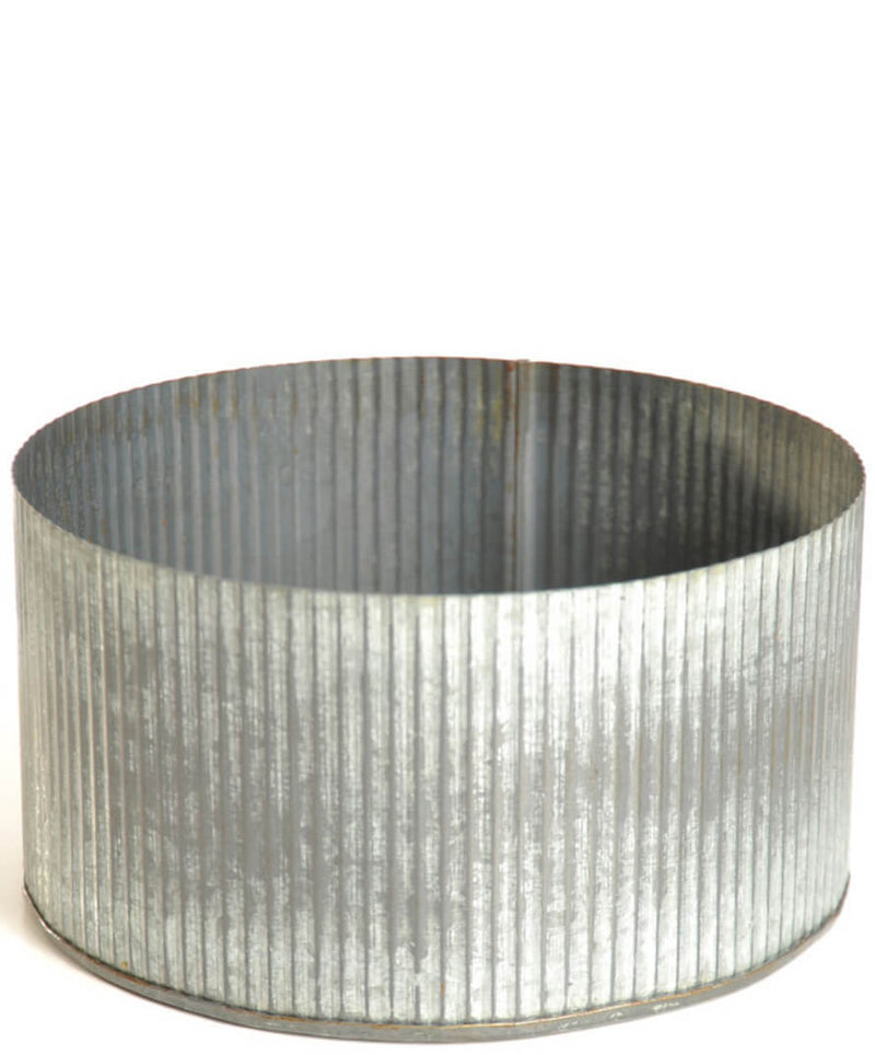 "Corrugated Zinc Pot 7.5""x 4""  Norah Bowl"