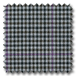 Gray with Black & Lavender Check Super 110's Wool