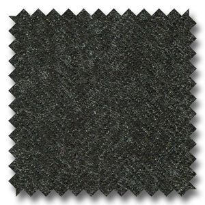 Black Herringbone Flannel Super 100's Wool