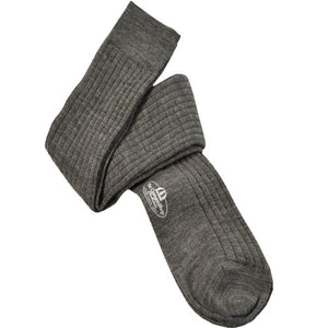 Gray Over the Calf Wool Sock