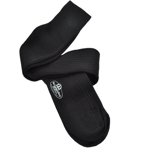 Black Over the Calf Cashmere Sock