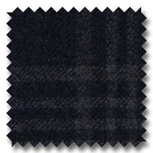 Zegna Navy Blue Plaid Custom Blazer