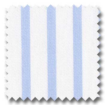 Cotton Blue Bengal Designer Stripe - Custom Dress Shirt
