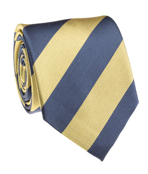 Wolverine Navy And Gold Rep Stripe Tie