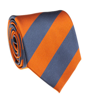 Tiger Navy And Orange Rep Stripe Tie