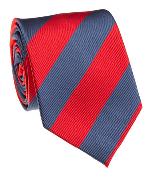 Rebel Red And Navy Rep Stripe Tie