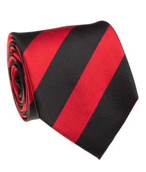 Aztec Black And Red Rep Stripe Tie