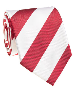 Tide Red And White Rep Stripe Tie