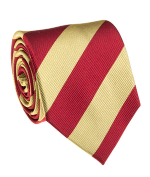 Trojan Red And Gold Rep Stripe Tie