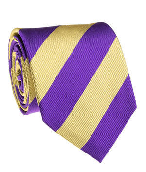 Tiger Purple And Gold Rep Stripe Tie