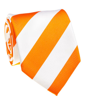 Volunteer Orange And White Rep Stripe Tie
