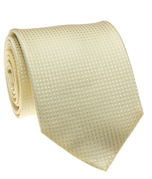 Cream Solid Grid Tie