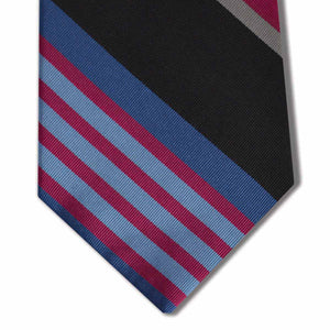 Black, Purple, and Blue Stripe Tie