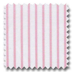 Cotton Broad Pink Stripe Custom Dress Shirt