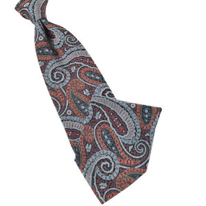Classic Navy and Red Paisley Tie