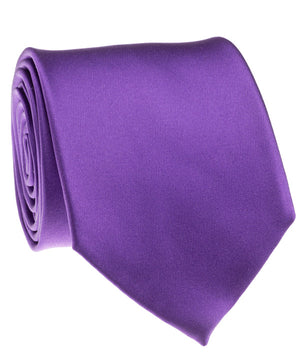 Purple Satin Tie