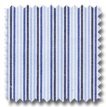 Shades of Blue Mini Stripe Broadcloth Custom Dress Shirt