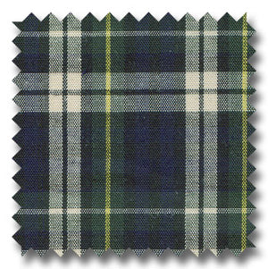 Navy, Green and Yellow Tartan Plaid Custom Dress Shirt