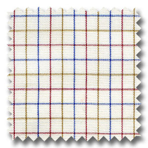 Tan, Blue and Maroon Earth Check Custom Dress Shirt