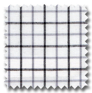 White, Gray and Black Check Custom Dress Shirt