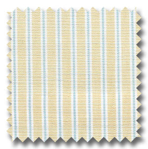 Gold, Blue, and White Stripe Custom Dress Shirt