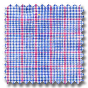 Blue, Red, and White Plaid Custom Dress Shirt