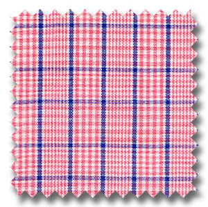 Red and Blue Color Check / Plaid Custom Dress Shirt