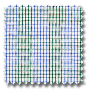 Green Blue, and White Plaid Custom Dress Shirt