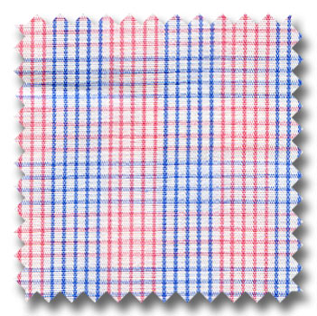 Pink, Blue, and White Plaid Custom Dress Shirt