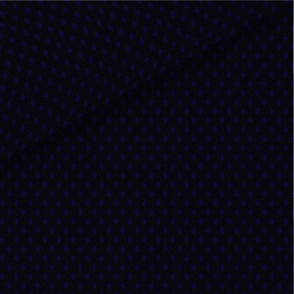 Black / Blue Pattern Satin Pinpoint Oxford Dress Shirt