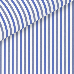 Blue & Navy Stripe Broadcloth Dress Shirt