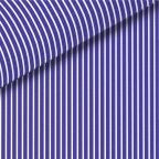Navy Blue Stripe Pinpoint Oxford Dress Shirt