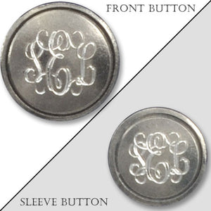 Genuine Pewter Monogram Blazer Button
