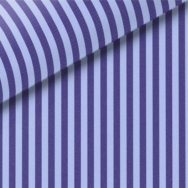 Navy & Blue Stripe Broadcloth Dress Shirt