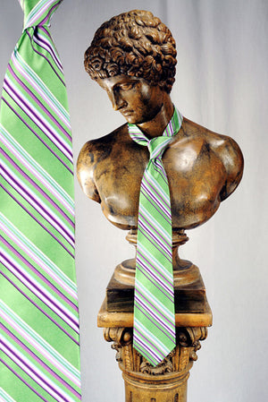 Green with Purple Stripe Tie