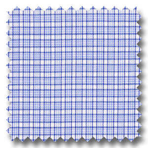 Blue and Black Check 2Ply Broadcloth - Custom Dress Shirt