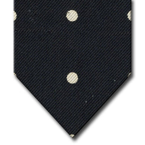 Black with White Dot Pattern Tie
